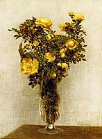 Roses Lying on Gold Velvet, fantinlatour