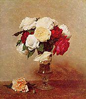 Roses in a Stemmed Glass, 1890, fantinlatour