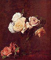 Roses in a Vase, 1884, fantinlatour