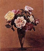 Roses in a Vase, 1892, fantinlatour