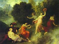 Scene from Tannhäuser, 1864, fantinlatour