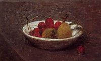 Still Life of Cherries and Almonds, 1870, fantinlatour