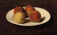 Still Life of Four Peaches, 1862, fantinlatour