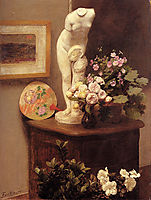 Still Life With Torso And Flowers, 1874, fantinlatour