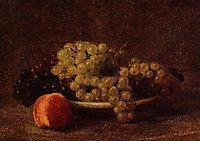 Still Life with Grapes and a Peach, 1895, fantinlatour