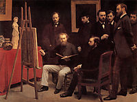 A Studio in the Batignolles, 1870, fantinlatour