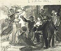 Study Homage to Delacroix, fantinlatour