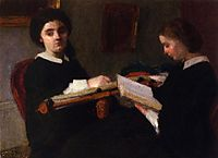 The Two Sisters, 1859, fantinlatour