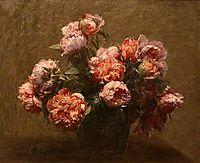 Vase of Peonies, 1881, fantinlatour
