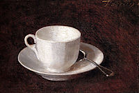 White Cup And Saucer, 1864, fantinlatour