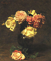 White and Pink Roses, 18, fantinlatour