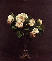 White Roses, 1875, fantinlatour
