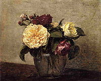 Yellow and Red Roses, 1879, fantinlatour