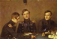 Andrey, Grigoriy and Alexander Druzhinin, c.1840, fedotov