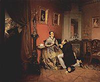 Difficult Bride, 1847, fedotov