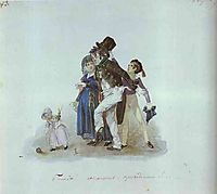 Get Married, Gentlemen That Would Come in Very Handy, c.1840, fedotov