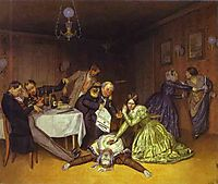 It is Cholera to Blame, 1848, fedotov