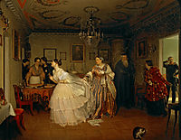 The Major-s Marriage Proposal , 1851, fedotov