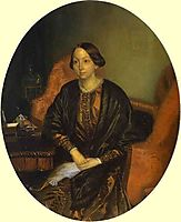 Portrait of Amalia Legrand, 1847, fedotov