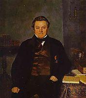 Portrait of F. Ye. Yakovlev, 1847, fedotov