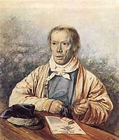 Portrait of A. I. Fedotov, the Artist-s Father, 1837, fedotov