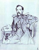 Portrait of Lieutenant Lvov, 1846, fedotov
