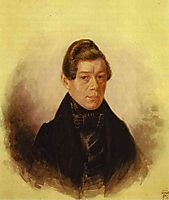 Portrait of M. M. Rodivanovsky, c.1836, fedotov