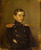 Portrait of M. P. Zhdanovich, 1847, fedotov