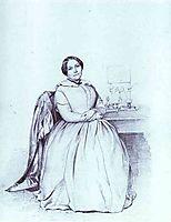 Portrait of M. Ye. Shishmareva, 1849, fedotov