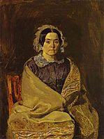Portrait of  N. P. Chernyshova, 1847, fedotov