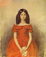 Portrait of N. P. Zhdanovich as a Child, 1847, fedotov