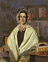 Portrait of O. P. Zhdanovich, 1847, fedotov