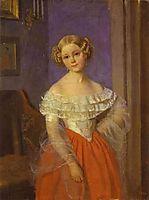 Portrait of Olga Ivanovna Demonkala , 1851, fedotov