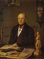 Portrait of P. V. Zhdanovich, 1847, fedotov