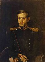 Portrait of S. S. Krylov, 1851, fedotov