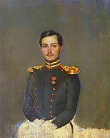 Portrait of Second Captain Vannovsky, 1849, fedotov