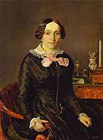 Portrait of Ye. P. Zhdanovich, 1847, fedotov