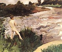 Gloomy Landscape with Bather, 1913, ferenczy