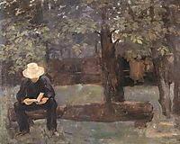 Man Sitting on a Log, 1895, ferenczy