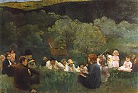 Sermon on the Mountain, 1896, ferenczy