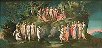 The Challenge of the Pierides, 1520, fiorentino