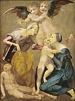 The Holy Family, 1520, fiorentino