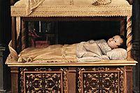 Newborn Baby in a Crib, 1583, fontana
