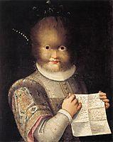 Portrait of Antonietta Gonzalez, 1595, fontana