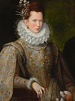 Portrait of a Lady of the Court, 1590, fontana