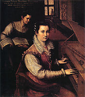 Self-Portrait at the Clavichord with a Servant, 1577, fontana