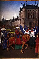 The Arrival of Charles V (1337-80) in Paris, 28th May 1364, c.1460, fouquet