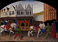 Arrival of the Emperor Charles IV in front of Saint Denis, 1460, fouquet