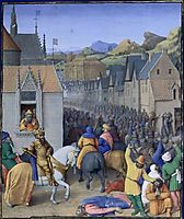 Capture of Jerusalem by Ptolemy Soter, 1475, fouquet