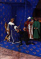 Charles V gives the sword of constable to Bertrand du Guesclin, 1460, fouquet